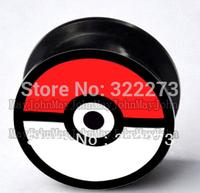 [Min. Order $20] Pokemon Pokeball Acrylic Ear Flesh Tunnel Plug Stretcher Screw Fit Pikachu body jewelry 6mm- 25mm MJEPG3677