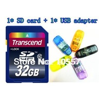 ORIGINAL PACKAGE HOT 128MB 32GB 64GB Memory card sd card +USB adapter for free~!