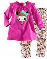 free shipping  Retail  2-7 years baby 100% cotton baby clothing kids pajama sets pijamas kids