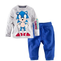 free shipping  Retail  2-7 years baby 100% cotton baby clothing boy baby boy set pajamas for boys