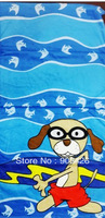 50pcs/lot! The Newest Bath Towel 100% Cotton Beach Towel Cartoon Kids Towel (120cm*60cm ) G3099 Free Shipping