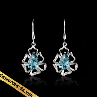 Special Earrings 925 Silver Zircon Fashion Vintage Flower Design Top grade Jewelry Free Shipping New Style Gift EH13A11172