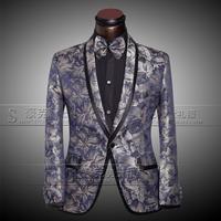 2014 wedding suits for men terno masculino plus size print clothing set costume custom prom tuxedo suits 3 pcs (Jacket+Pants+Tie
