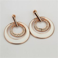 LKN18KRGPE881 // Fashion 18k gold jewelry crystals Earring , Free shipping Promotion 18k gold plated Earring , Mixed MOQ 5PCS