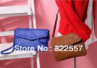 New women classic fashion envelope bag diagonal bags blue brown buckle Shoulder bag for women handbag free shipping