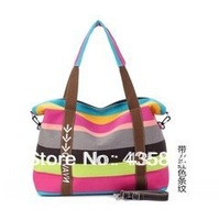 2014 spring and summer travel bag check computer female one shoulder canvas messenger bag color of the big bags