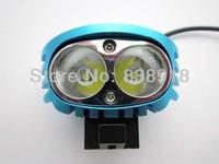 5 sets/ lot 2x Cree XM-L XML U2 LED 4000 Lumens Blue 4 Mode Bicycle Light Cycle Bike Lamp HeadLamp Headlight Flashlight Full Set