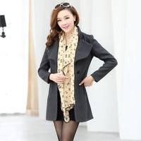 Women's autumn and winter woolen outerwear trend women's clothes girls top