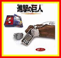 Shingeki no Kyojin Attack on Titan Necklace ring Set Cosplay Scouting Legion Pendant New Gift 02