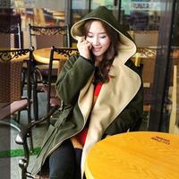 Cloak woolen outerwear women's woolen overcoat medium-long outergarment small 2013 top