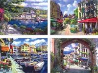 Free shipping! (16 pcs/set; 3 sets/lot) Landscape painting postcards/European style 10*14cm Oil Painting C