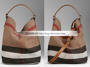 B 2013 new arrival female bags plaid canvas hobo bag one shoulder one shoulder cross-body women's handbag fashion handbag(China (Mainland))
