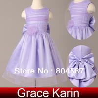 GK New Flower girl dresses Children Purple Princess Wedding Party Christmas Dress girls' dress 2014 Free shipping CL4832