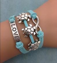 3pcs infinity bracelet, love bracelet,turtle bracelet for christmas gift 3072 mini order 10$(China (Mainland))