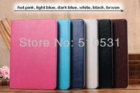 Hot fashion Crazy horse PU Leather Smart Stand Book Cover Case for iPad Air iPad5,sleep/wake up retail and wholesale,10pcs/lot