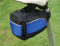 New Cycling Bike Expandable Bicycle Seat Rear Saddle Bag Quick Release Blue