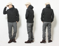 Short design with a hood simple casual winter thermal male the boys clothing men's wadded jacket outerwear