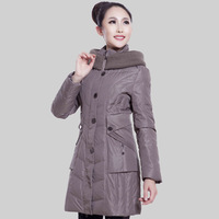 Winter medium-long Women down coat finished products semi finished clothing leather 1770 finished products