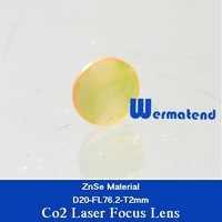 Free Shipping 20pcs/lot USA ZnSe material Co2 laser focus lens Dia20mm-FL76.2mm