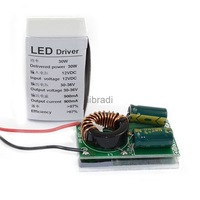 1pcs 30W 30-34V LED Driver Power Supply Lighting Transformer DC 12V IN Constant Current+Heatsink