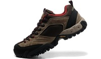 Men's cross country running shoes authentic genuine leather hiking shoes 308