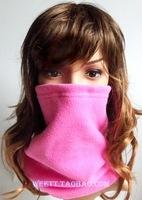 Male women's winter double layer thickening fleece fabric polar fleece windproof thermal scarf collars hat muffler scarf