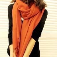 Autumn and winter women's yarn scarf muffler cape dual-use ultra long plaid scarf winter cape