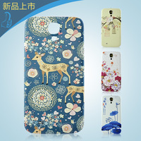 For samsung   i9500 mobile phone back cover s4 battery cover embossed cartoon i9508 after colored drawing ultra-thin after