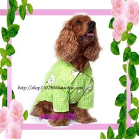 The 2013 spring and summer dog clothes large dog cotton shirt T-shirt dress sweater vest Golden Teddy