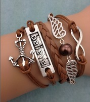 3pcs infinity harry potter charm anchor believe 3101 mini order 10$