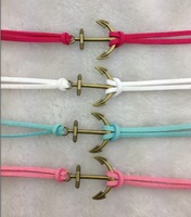 4pcs Pretty retro bronze 3d anchor  hand chain bracelet pendant jewelry punk style charm bracelet for  3020 mini order 10$