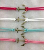 4pcs Pretty retro bronze 3d anchor  hand chain bracelet pendant jewelry punk style charm bracelet for  3020 mini order 10$