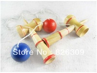 Free shipping 100pcs Kendama Ball Japanese Traditional Wood Game Toy Education Gift