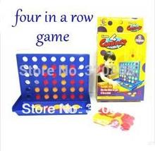 Envío gratuito Four In A Row Juego Niños Juegos Educativos Chess Set 2pcs / LOT(China (Mainland))