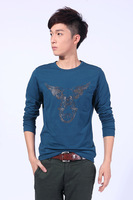 Free Shipping Man 's Gothic full  T shirt O-Neck Men Fashion COTTON shirt