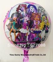 New arrive 50pcs/lots wholesales 18 inch Monster high foil balloon , party balloon ,cartoon balloon 45X45cm bauble