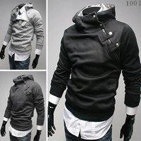 Free Shipping 2012 NEW Hot High Collar Men's Jackets ,Men's Sweatshirt,Dust Coat ,Hoodies Clothes,cotton wholesale