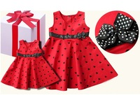 Baby girls dress kids children sleeveless love heart red wedding girl dresses 1126 sylvia 1230462053