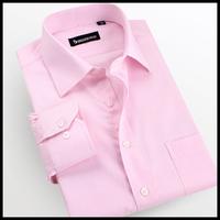 Spring quality 2013 Pink wedding dress shirt commercial male long-sleeve shirt slanting stripe shirt