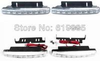 8 LED SUPER BRIGHT Daytime Running Light DRL Daylight Kit Fog Lamp Day Lights Kit 2pcs