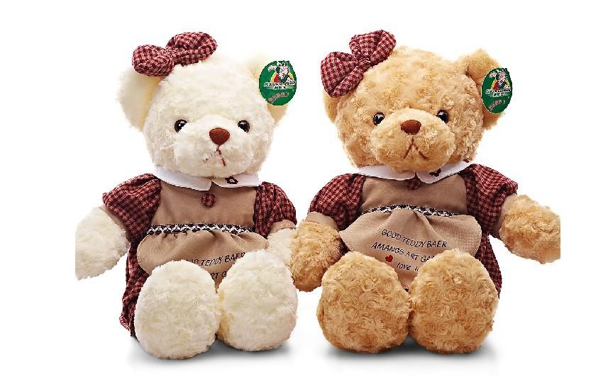 One pair Fluttering dragon plush teddy bear cute spring dress fashion Bears Teddy Bears send kids gifts(China (Mainland))