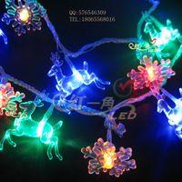 Christmas reindeer moose onta christmas tree led decoration light snow lighting led lights flasher lamp set