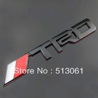 Free shipping (5 pieces/lot) black TRD car stickers emblem Toyota