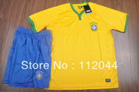 New  promotion   Brazil  Home -2014 World Cup   High quality soccer  jersey  soccer uniforms kits    Free Shipping