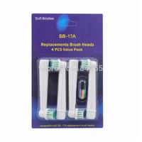 400pcs FREE SHIPPING DHL electric toothbrush dual head EB17-4 sb-17a EB17 SB17A 100pack