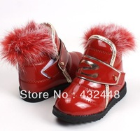 Free shipping child boots single boots female autumn and winter baby cotton-padded shoes new style Free shipping children shoes