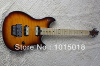 Wolfgang Edward Van Halen guitar cherry burst color finished with Floyd Rose tremolo and quilt flame+ Free shipping!   xiexie