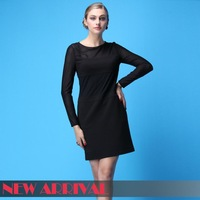 2014 summer new fashion black sexy bodycon long sleeve woman dress,lady dree,size:S,M,L,free shipping 06021