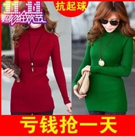 Winter medium-long 2013 women's plus size sweater pullover sweater basic sweater