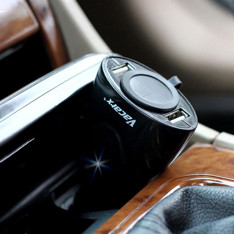 Va-230 car cigarette lighter car charger double usb single hole power socket(China (Mainland))